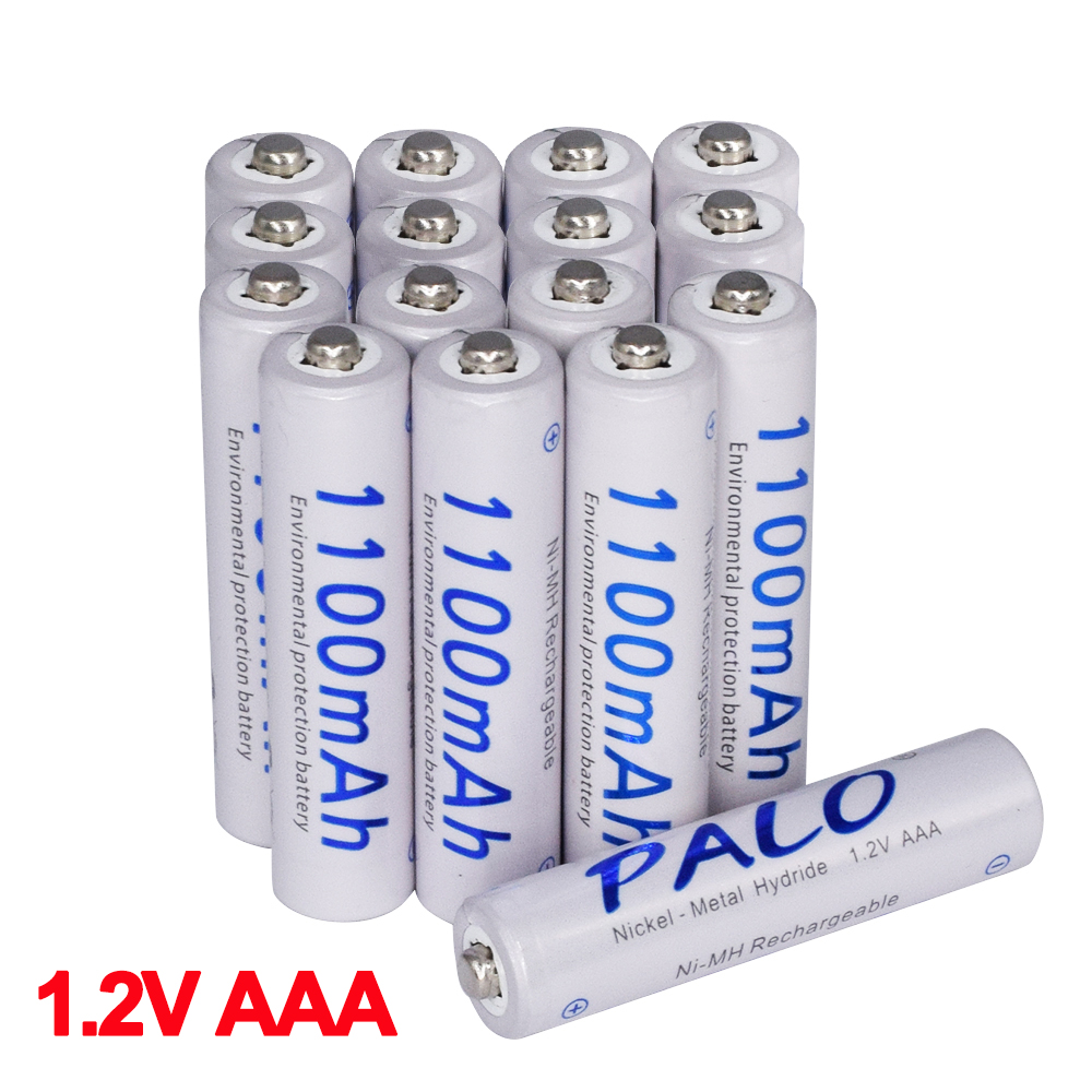 4-24Pcs 1100mAh 1.2v AAA rechargeable battery AAA nimh pre-charge battery for LED light Toy camera MP3 mp4 microphone battery(China)