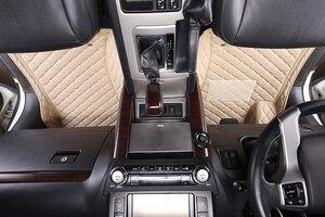 Image 4 - 3D araba paspaslar Toyota Land Cruiser 100 200 Prado120 150 su geçirmez deri paspaslar araba styling İç otomobil halı matı
