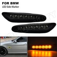 For BWM E46 E60 E61 E81 E87 E82 E88 E83 X3 E84 X1 E90 E91 E92 E93 LED Front Side Marker Lights High Power Amber Fender Lamps