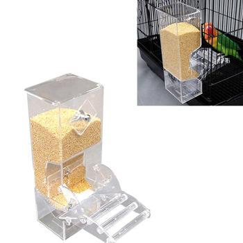 Yfashion Transparent Automatic Feeder for Mini Pet Birds Myna Parrots 1