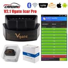 Vgate iCar Pro ELM 327 OBD2 Scanner Bluetooth 4.0 WIFI Per Android/IOS OBD Diagnostico Auto Strumento di Auto V2.1 iCar Pro Lettore di Codice