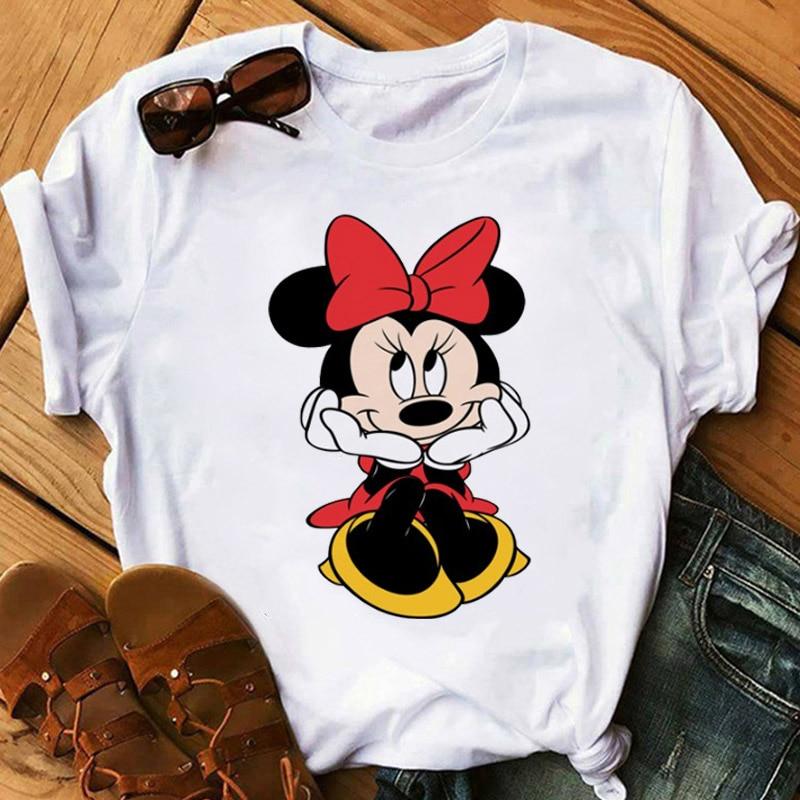 2020 Women T Shirt Women Plus Size Harajuku Tops Summer Tops Graphic Tees Women Micky Tee Shirts Kawaii T-shirt Clothes Femme