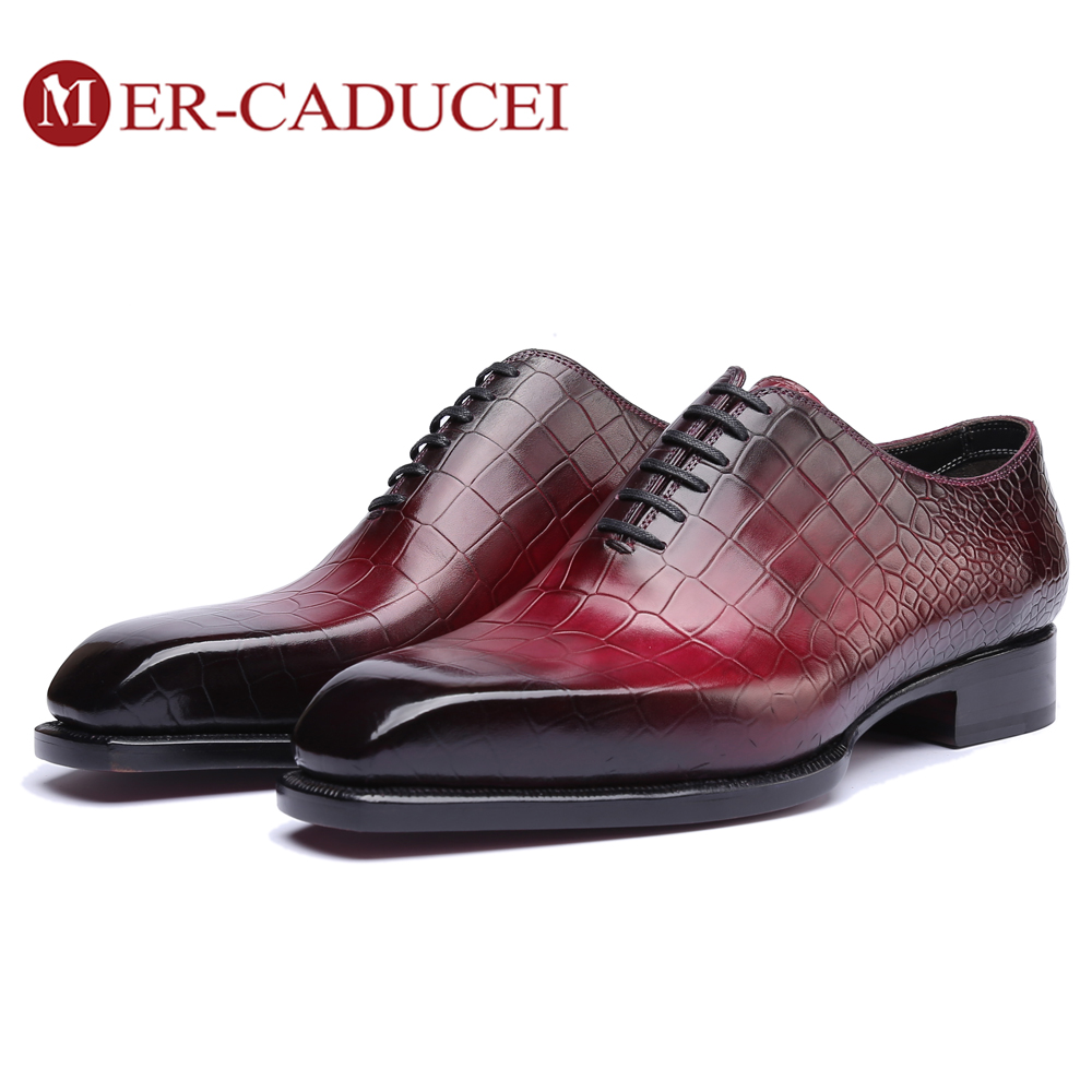 Dress Shoes Men Genuine Leather Vintage Retro Custom Blake Handmade Office Fashion Formal Wedding Party Oxford Shoes