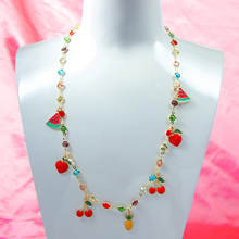 Женское Ожерелье с кулоном flatfoosie украшение в виде красных