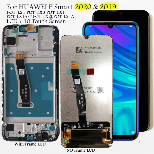 LCD Screen For Huawei P Smart 2019 & 2020 POT LX1A,LX3,LX2J LCD Display 10 Touch Screen Replacement Tested LCD Digitizer