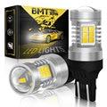 BMTxms 2Pcs T20 7443 W21/5W Auto Beleuchtung Weiß 1400LM Canbus Für Fiat 500 2009-2016 LED DRL Tagfahrlicht Fehler Freies