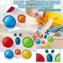 Desenvolvimento intelectual das crianças placa de treinamento intensivo brinquedos coloridos placa de desenvolvimento educação precoce brinquedos # g