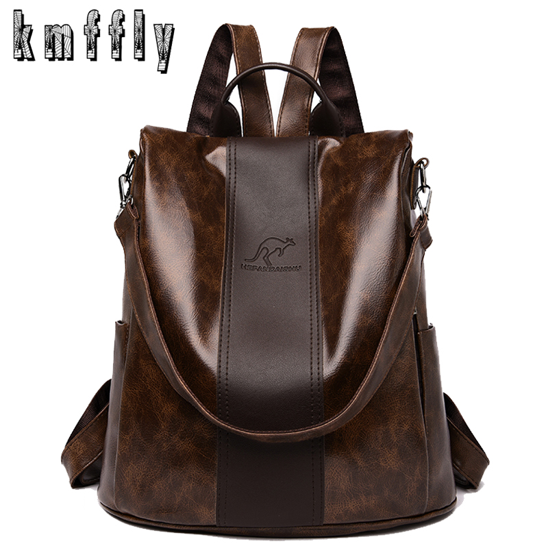 2020 New High Quality Leather Backpacks Women Fashion Shoulder Bags High Capacity Travel Backpack School Bags Mochila Feminina
