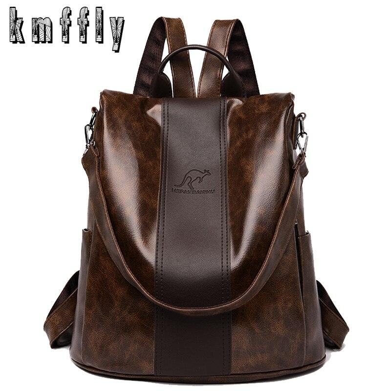 2020 New High Quality Leather Backpacks Women Fashion Shoulder Bags High Capacity Travel Backpack School Bags Mochila Feminina