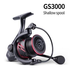 Image 5 - LINNHUE New Fishing Reel Full Metal Spool Spinning Reel 5.0:1 Max Drag 10Kg Power Smooth Sea Carp Fishing Reel Black