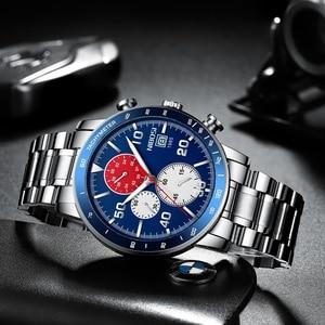 Image 3 - NIBOSI hommes montres 2020 nouveau bleu haut marque de luxe hommes sport chronographe montre hommes montres à Quartz horloge Relogio Masculino