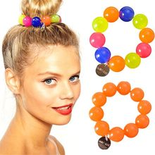 Big Imitation Pearl Hair Rope Candy Ponytail Holder Hair Ring for Women Girls Elastic Hair Bands Hair Rope Girl Hair Accessories 100pcs girl elastic bands ponytail holder rubber hair elastic kid accessories candy ribbon ring rope children jewelry accessory