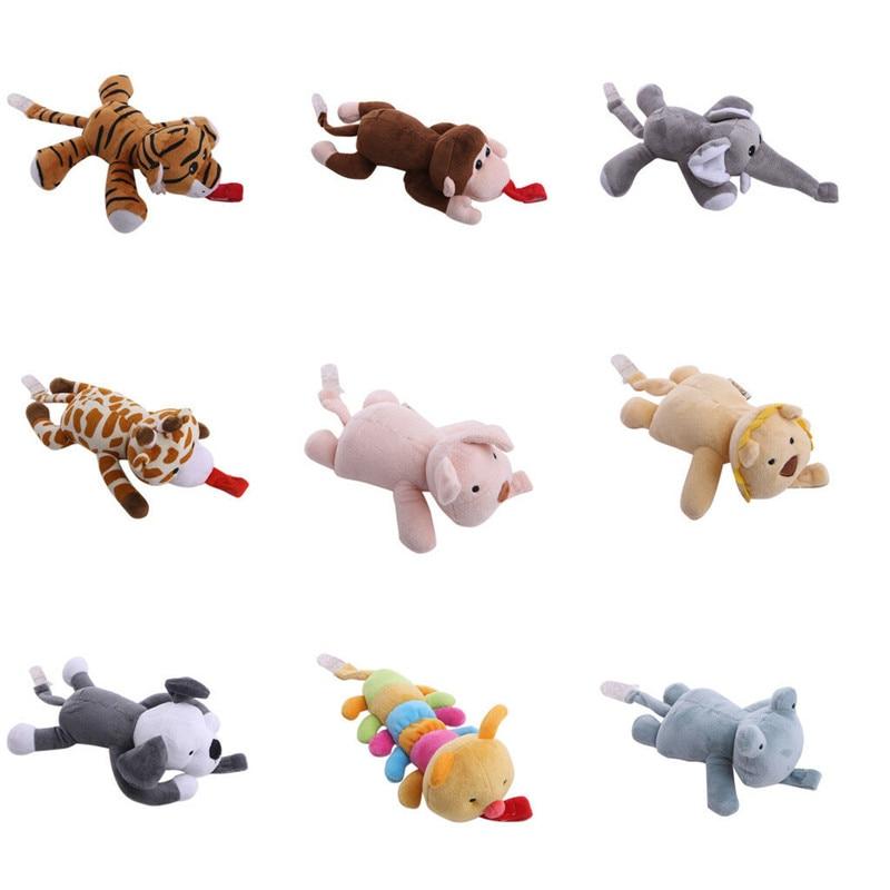 Bébé filles garçon factice sucette chaîne Clip animaux jouets en peluche mamelons détenteurs CL Nano poupée animaux en peluche jouet nouveau porte-mamelons