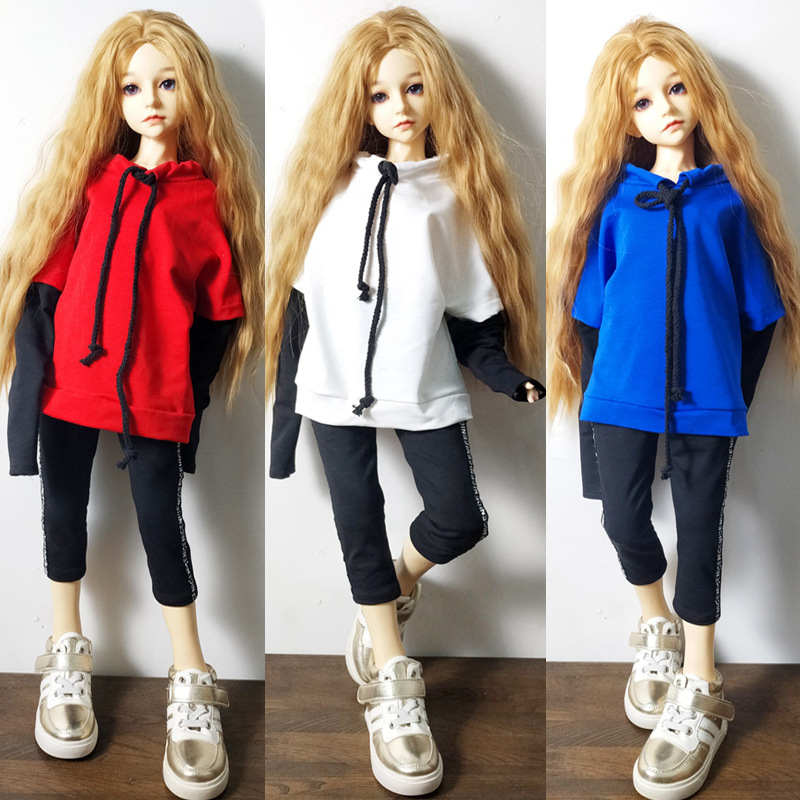 <font><b>Bjd</b></font> sd doll <font><b>clothes</b></font> 1/3 1/4 <font><b>1/6</b></font> joint doll tops baby <font><b>clothes</b></font> cotton men and women sweater pants suit small doll toy image