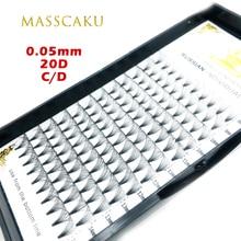 MASSCAKU Eyelashes Makeup Maquillaje 1 Case Premade Fans High Quality Natural Soft Faux Cils Synthetic Mink Eyelash