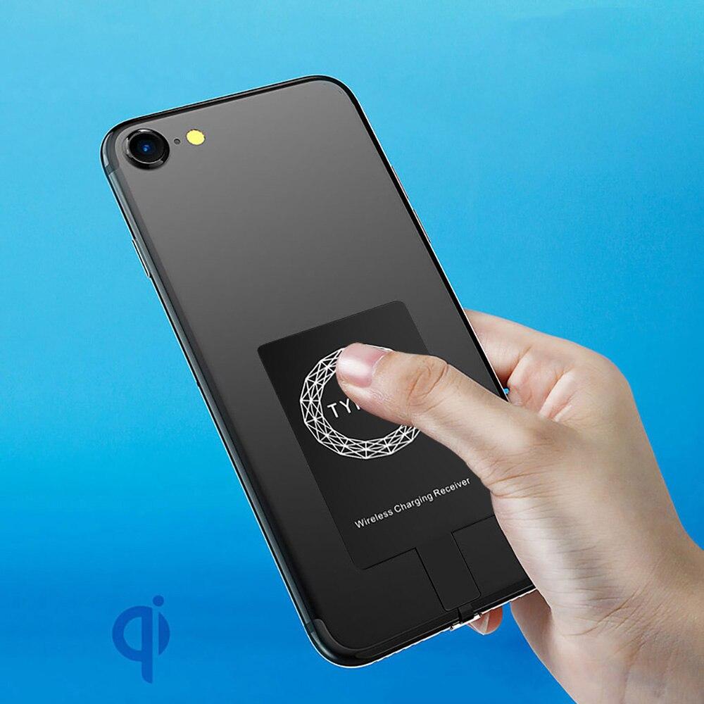 Беспроводной приемник зарядного устройства для iPhone 7 6 6s Plus 5s 5 SE Qi зарядный адаптер Micro usb type C для samsung Galaxy J7/J3/J6/S5 A50