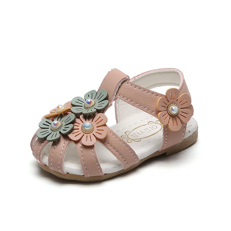 Baby Girls Sandals Shoes Kids Todder Sanals Summer Children Girls Soft Sandals Flower Princess Shoes Casual Beach Sandals
