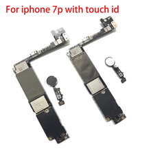 цена на 100% Original tested for iphone 7P motherboard  with touch ID Unlocked IOS system main logic board Free Shipping