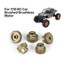 Surpass-hobby 48DP 5Pcs 3.175mm 21T 22T 23T 24T 25T Metal Pinion Motor Gear Combo Set for 1/10 RC Car Brushed Brushless Motor surpass hobby 540 80t 13t 17t 21t 23t 27t 35t brushed motor for 1 10 off road rock crawler climbing rc car parts brushed motors