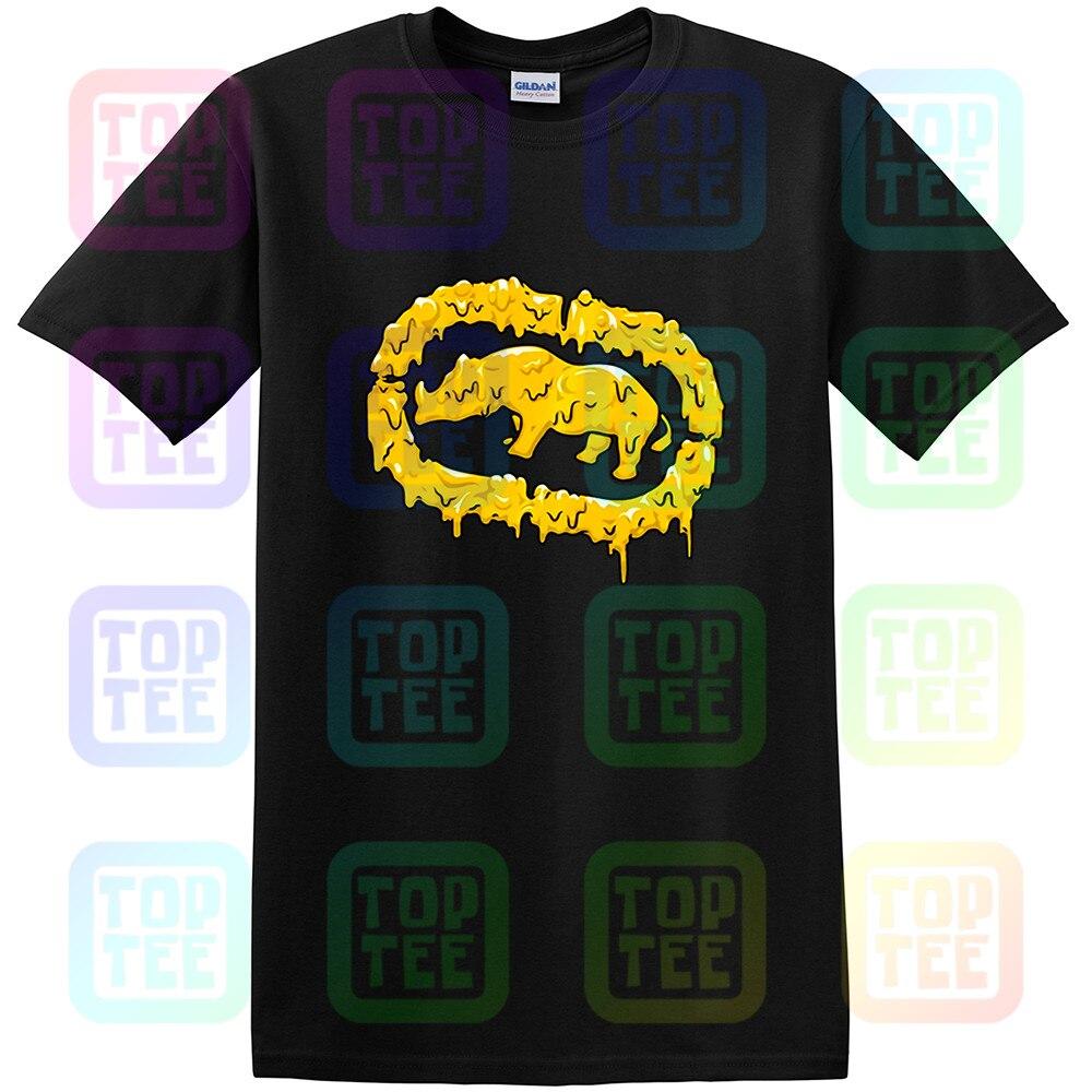 New Streetwear Ecko Unltd. Mens Melted Bright Graphic T-Shirt Black New Fashion Men Women Size S-3Xl