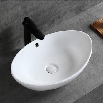 Nordic Simple Above Counter Basin Boat White Wash Basin Home Bathroom Pendant Ceramic Art Basin Toilet Bathroom Accessory jingde ceramic bathroom wash basin art basin ellipse gold purple