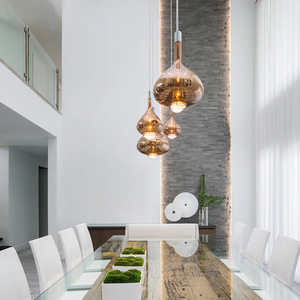 Image 4 - Nordic Creative LED Pendant Lights Postmodern Glass Dining Living Room Villa Hanging Lamp Hotel Bar Coffee Shop Art Luminaires
