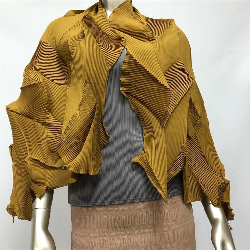 Miyake Pleated Scarf Diamond Pleated Shawl Scarf  Fashion Folding Lightweight And Three-dimensional Scarf Free Shipping