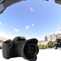 8mm F/3.5 Ultra Wide Angle Fisheye Lens Manual Lens & Compatible with for Canon DSLR Cameras 1200D 1300D 760D 550D 700D 750D 600