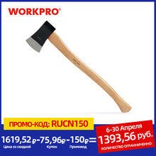 WORKPRO Wood Axe 2LB Wooden Handle Axe Outdoor Camping Tool