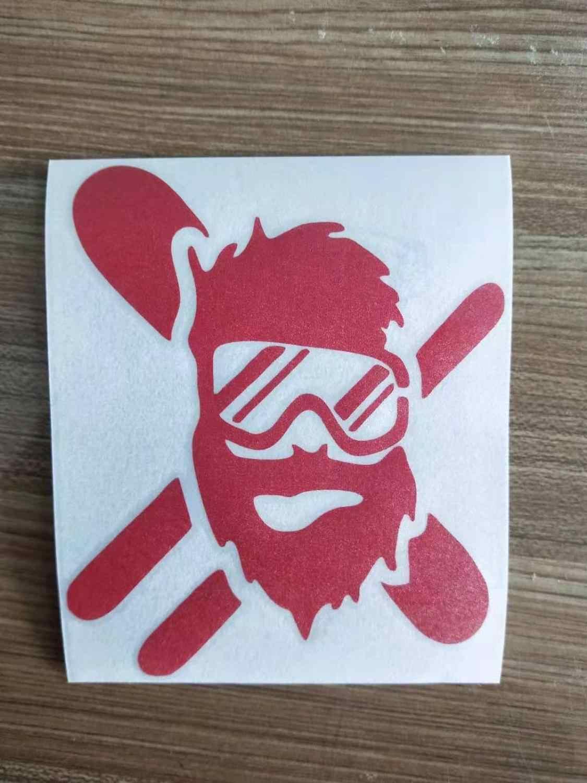 25cm Skier Snowboarder Masked Sticker Vinyl Decal Car Auto Bumper Glass Laptop