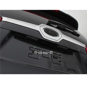 For Kia Sorento L 2015 2016 2017 Car Auto Body Rear Back Bumper Cover ABS Chrome Wrap License Trim Frame Lamp Panel 1pcs