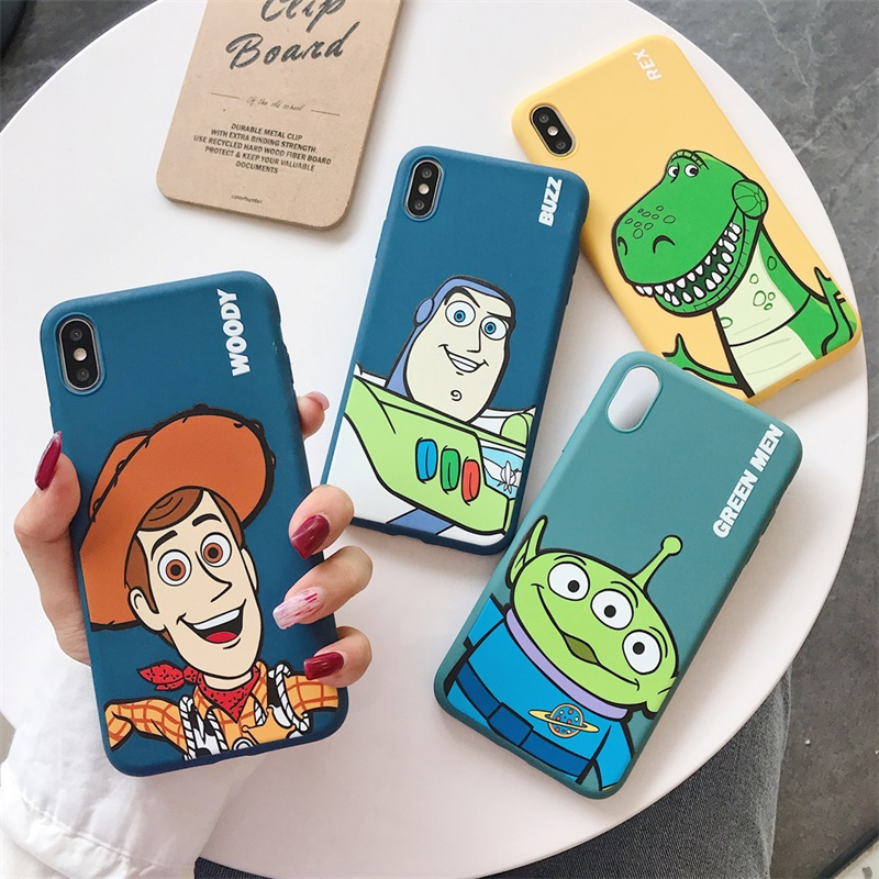 Cartoon Monsters <font><b>Toy</b></font> <font><b>Story</b></font> Alien Buzz Lightyear Case for <font><b>iPhone</b></font> 8 7 6 6s Plus X XS Max <font><b>Xr</b></font> Candy TPU soft silicone cover <font><b>coque</b></font> image