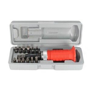 Набор многофункциональных ударных отверток, Набор отверток из углеродистой стали, набор для ремонта молотов, коробка для хранения отверток...