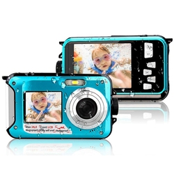 External Single Dual Screen Camera Waterproof HD Digital Camera Dv Camera Underwater Camera 240,000 Pixels