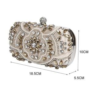 Image 2 - 結婚式クラッチバッグ女性シルバークラッチ財布高級パーティーバッグダイヤモンドチェーンハンドバッグクラッチラインストーンボルサfeminina ZD1336