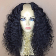 250% Density Curly U Part Wig 100% Mongolian Human Hair