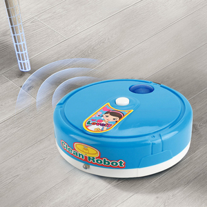 Мини моделирование ролевые игры пылесос игрушки Дети Чистка мебельные Инструменты Электрический светильник музыка подметание робот
