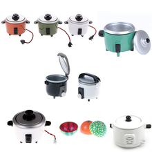 Craft Dollhouse-Accessory Rice-Cooker Diy Miniature Toys Decoration New for 1:12 Kids
