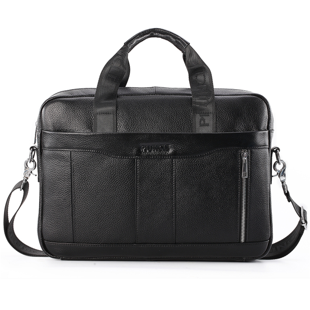Leather Briefcase Mens Leather Handbags Crossbody Bags Men's High Quality Luxury Business Messenger Bags Laptop
