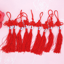 Tassels-Decoration Chinese-Arts Pendant Gift And Red Crafts Present Jade Knot Plastic