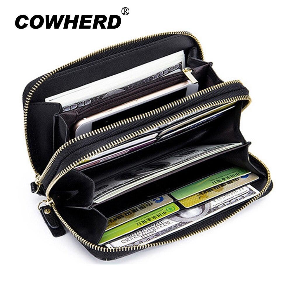 RFID Blocking Women Clutch Wallet Genuine Leather Long Wristlet Wallet Ladies Purse Credit Card Holder Coin Money Organizer