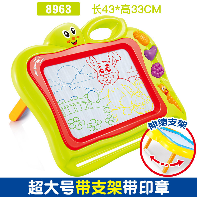 CHILDREN'S Toy Color Magnetic Drawing Board With Stand Sketchpad Baby ENLIGHTEN Learning Educational Painted Small Blackboard