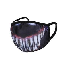 Venom Marvel maska mężczyźni zło śmieszne regulowane elastyczne maski na uszy ochronne czarne męskie maski na usta tanie tanio COTTON NONE Chin kontynentalnych Stałe
