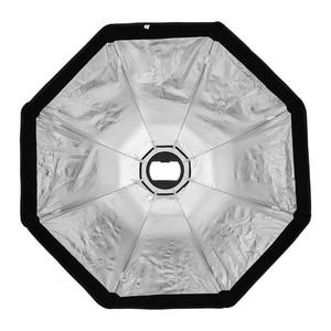 Image 3 - Triopo K90 90cm fotoğraf taşınabilir Bowens dağı sekizgen şemsiye Softbox + petek ızgara açık yumuşak kutu stüdyo flaş ışığı için