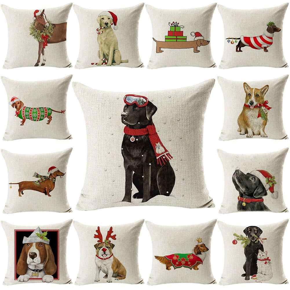 Pillow Case Pillowcases Decorative Pillows Xmas Animal Print Throw Pillow Cases for Living Room Pillow Cover Christmas