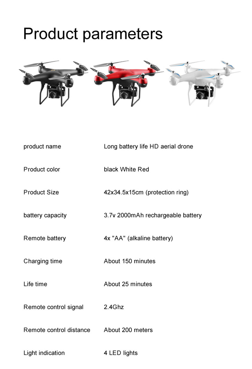 S32T4K Quadcopter Drone with 1080p HD camera and 4 LED for Kids 25