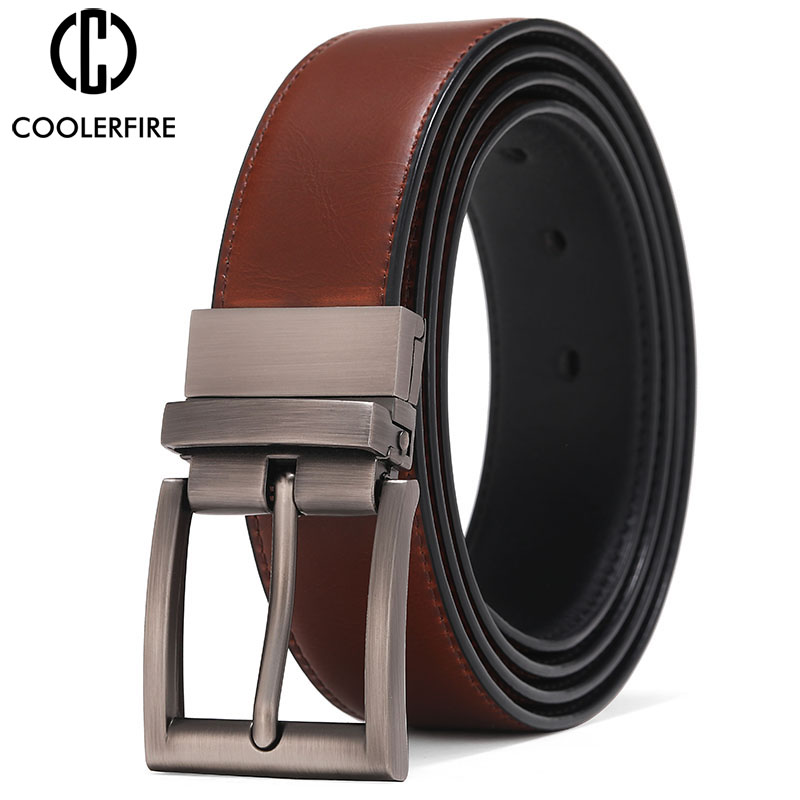 Men Reversible Casual High Quality Belt Man Genuine Leather Belt Male Strap Luxury Trouser Jeans Dress Belt For Men