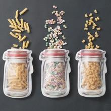 3pcs/4pcs PE Ziplock Bag Reclosable Plastic Clear Plastic Resealable Packing Storage Leakproof Food Snack Seal Bags