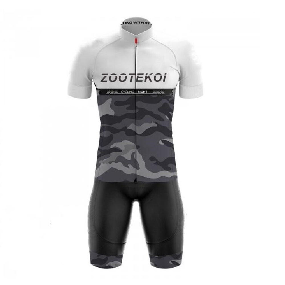 ZOOTEKOI Wielren Kleding Heren Jersey Set Bike Shorts Set Mtb Ropa Cycling Quick Dry Pro BICYCLING Shirts Maillot Culotte Wear