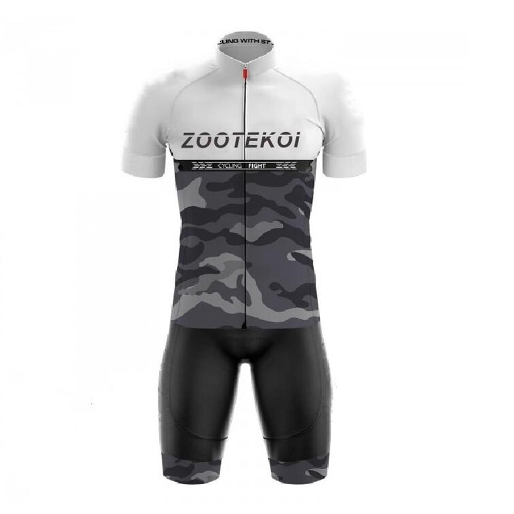 ZOOTEKOI Wielren Kleding Heren Jersey Set Bike Shorts Set Mtb Ropa Cycling Quick Dry Pro BICYCLING Shirts Maillot Culotte Wear